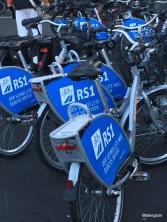 Leihfahrräder mit dem RS1-Logo - November 2015