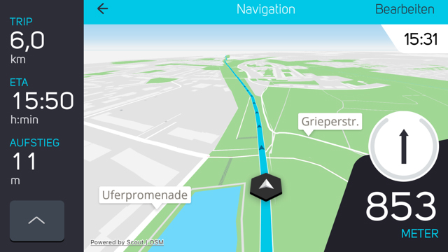 COBI, Smartphone, Routing, Navigation